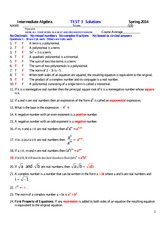 MATH 140 Spring 2014 Test 3 Solutions
