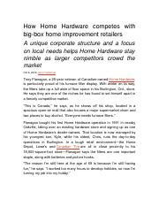 How Home Hardware competes with big.docx