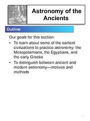 2. Ancient Astronomy