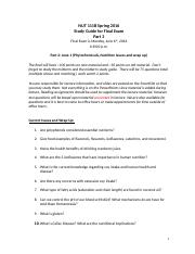 NUT111B - Final Exam Study Guide Part 2.docx