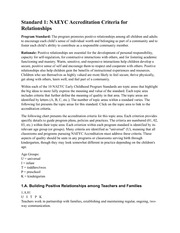 NAEYC Standard Relationships Article