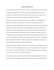 breach essay