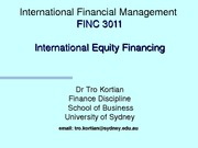 wk 11 International Equity Financing (student)