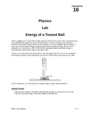 Lab02.Energy of a Tossed Ball