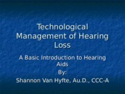 6, Management of Hearing Loss VanHyfte