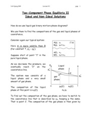 Ideal and Non-Ideal Solutions notes