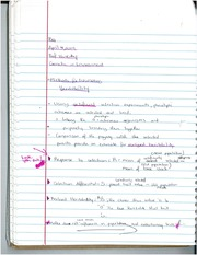 Genetic or Environment Lecture Notes