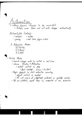 Automation Notes