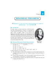 Ch-8 (Binomial Theorem FINAL 06.01.06)