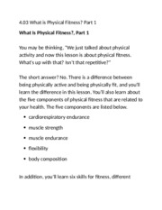 4.04 what is physical fitness part 1