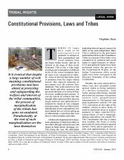 1. Constitutional Provisions, Laws and Tribes