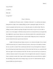 essay 3 abortions