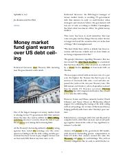 September 6, 2017 - Money market fund giant warns over US debt ceiling.pdf