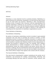 defining marketing paper Essay on marketing: free examples of essays, research and term papers examples of marketing essay topics, questions and thesis satatements.