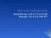 Security Safeguards
