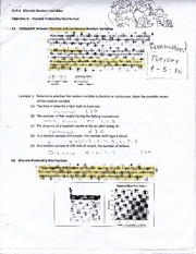 Chapter 6.1 Notes on Discrete Probability Distribution