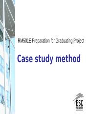 Session 7 - Case study method