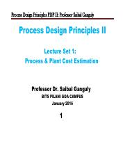 PDP-II=Cost Estimation=LectureSet1