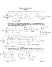 Printables Momentum Problems Worksheet momentum and impulse solutions collisions name 2 pages dynamics worksheet solutions