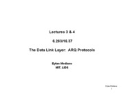 Lectures3_4 - ARQ