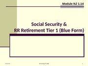 1.14 Social Security and Railroad Retirement Tier 1