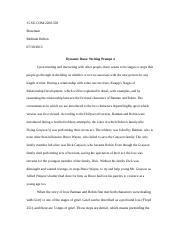 Writing Assignment 4 - Dynamic Duos