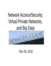 Week 13 GET434 Security  Big Data and internet access, security(1)