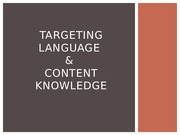 Targeting Language and Content Powerpoint
