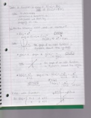 Notes on Properties of Functions