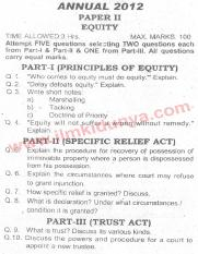 Past Papers 2012 LLB Part 2 Equity Paper 2