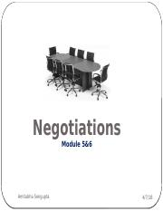 Negotiations Course  Module 5_6  Distributive Negotiations.pptx