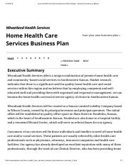 Home Health Care Services Business Plan Sample - Executive Summary _ Bplans.pdf