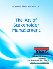 The Art of Stakeholder Management - PMI Dallas Chapter with Voting Results (Permission).pdf