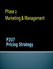 P2U7 Pricing Strategy.ppt