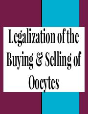 Legalization of the Buying & Selling of Oocytes.pdf