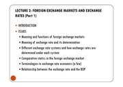 LECTURE 2 -  EXCHANGE RATES AND THE FOREIGN EXCHANGE MARKET (1) [Compatibility Mode]