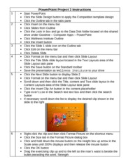 PowerPoint Project 3 Instructions