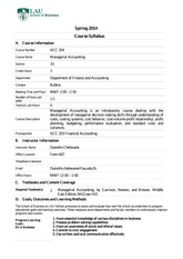 ACC 204 Managerial Accounting Spring 2014 (33)(1)