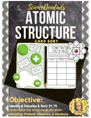 3 - Atomic Structure - Protons, Neutrons, and Electrons - Card Sorting Activity.pdf