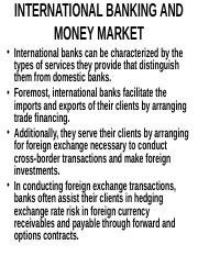 INTERNATIONAL BANKING AND MONEY   MARKET.ppt