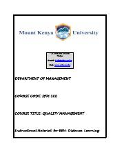 SPM_322_Quality Management