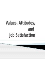 Values, Attitudes, and