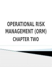 02. OPERATIONAL RISK MANAGEMENT (ORM) Chapter 02.pptx