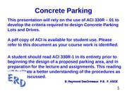 Design of Concrete Parking