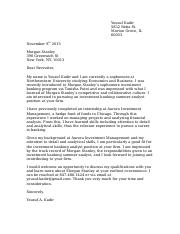 Morgan Stanley Cover Letter Wharton Sample Letters Samples Your Name