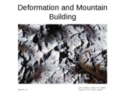 11 Deformation and Mountain Building