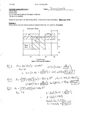 Structural Engineering Exam 1 Solution