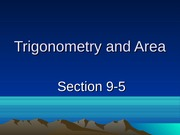 9-5 Trigonometry and Area