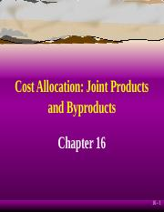Cost Accounting - ch16.ppt