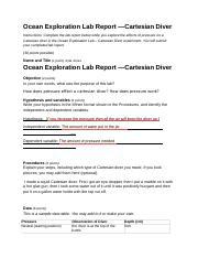 cartesian diver lab report